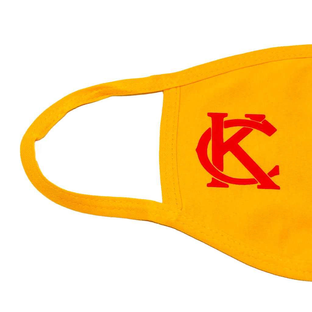100% Cotton Mask Yellow with Red KC
