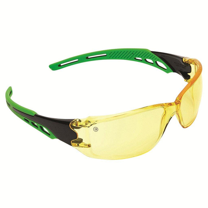 ProChoice Cirrus Green Arms Safety Glasses Amber A/F Lens