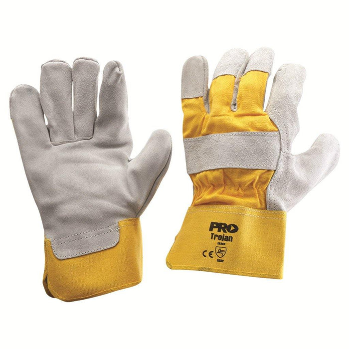 ProChoice Yellow/Grey Leather Gloves Large - Dynaton Australia