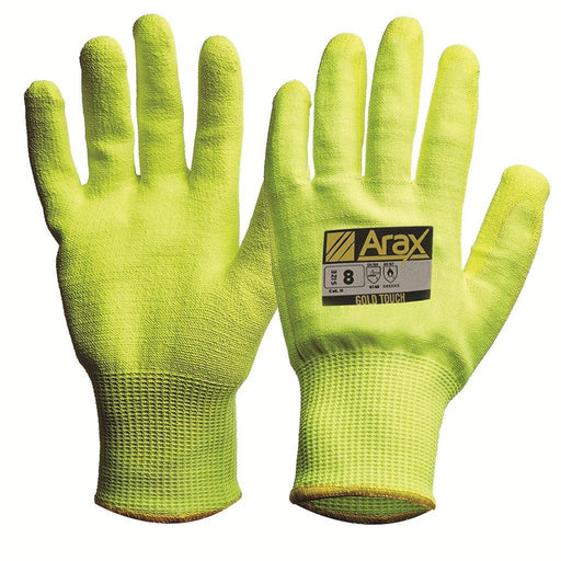 ProChoice Arax® Gold Hi-Vis Yellow With Hi-Vis Yellow PU Palm - Dynaton Australia