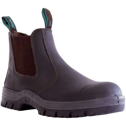 Bata Naturals ATLAS Claret Leather Slip On Safety Boot - Available Sizes: 3-13 UK + 6.5 + 10.5 Only