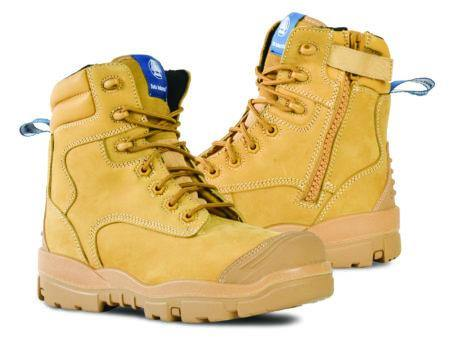 Bata Longreach CT Zip - Wheat Zip/Lace Safety Boot - Dynaton Australia