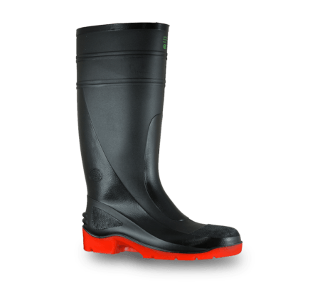 Bata Utility 400 Black/Red PVC 400mm Safety Toe Boot