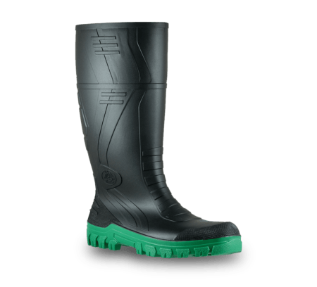 Bata Jobmaster3 Black/Green PVC 400m NON Safety Boot