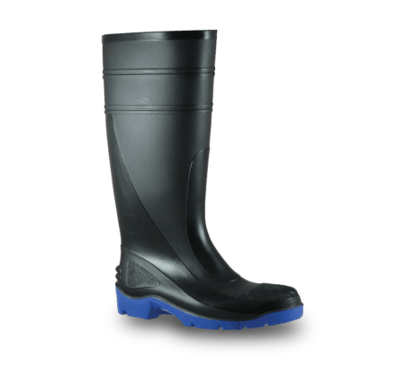 Bata Utility  -Black/Blue PVC 400mm Safety Toe & Midsole Boot