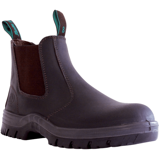 Bata Naturals BUSHMATE Claret Leather Slip On Non-�?Safety Boot - Available Sizes: 3-13 UK + 6.5 + 10.5 Only