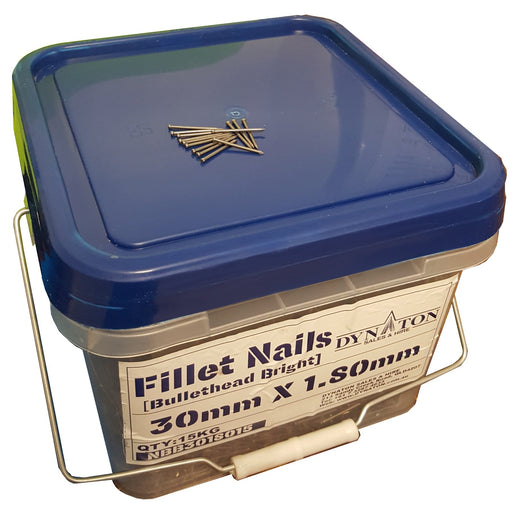 Fillet nails 15kg Bucket (30mm x 1.80mm) (bullethead bright)