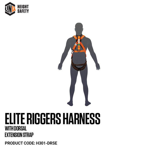 Elite Riggers Harness With Dorsal Extension Strap cw Harness Bag (NBHAR) - Dynaton Australia
