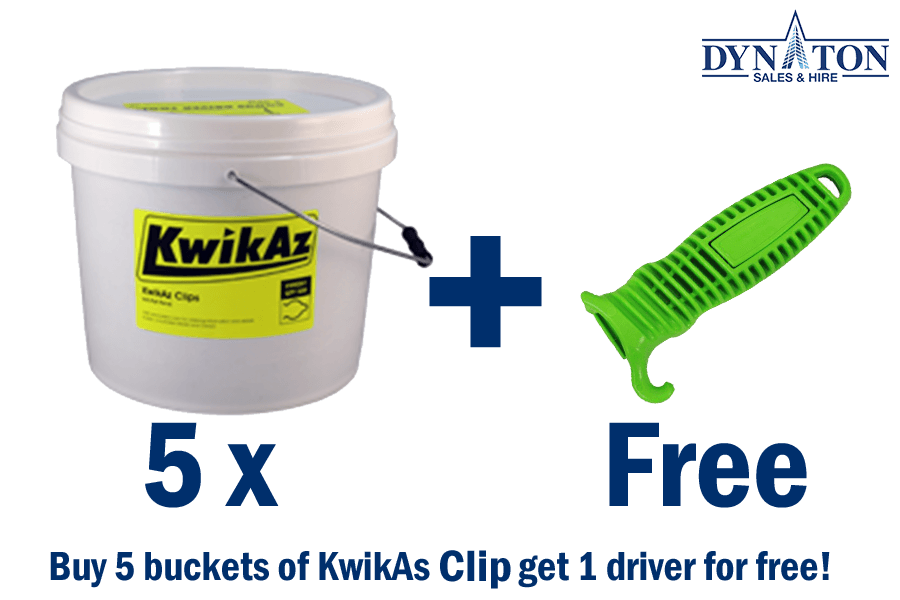 KwikAz Clips 5 buckets kit