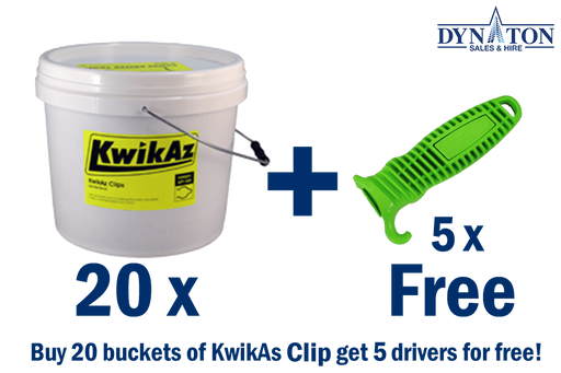 KwikAz Clips 20 buckets kit