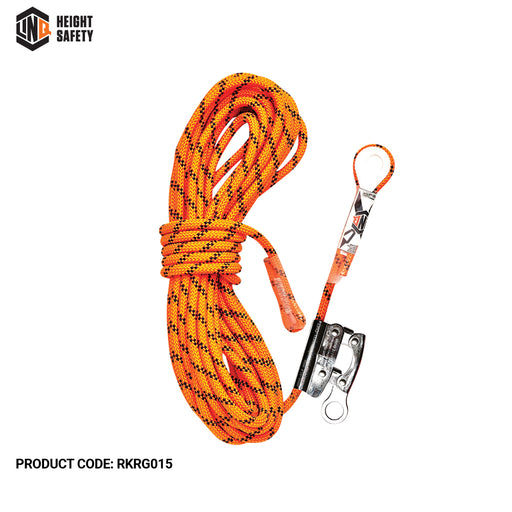 Kernmantle Rope with Thimble Eye & Rope Grab