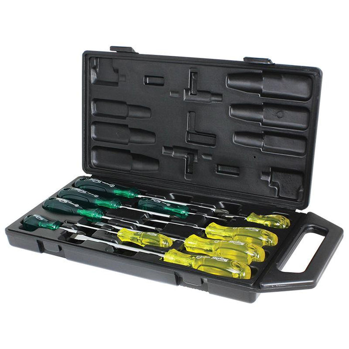 Sterling 10 Piece Acetate Handle Screwdriver Set