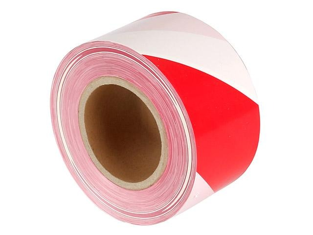 Safety Tape - Red and White 100m Roll(s)