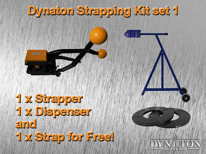 19mm Steel Strapping Kit 1: Sealess Tool, Dispenser, Steel Strap