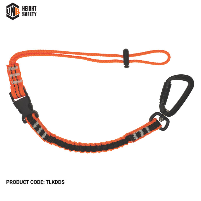 Tool Lanyard With Double Action Karabiner & Detachable Tool Strap