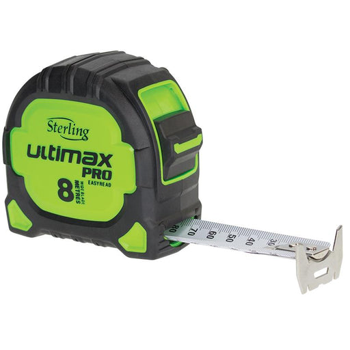 Sterling Ultimax Pro Tape Measure Easyread: 8m/10m