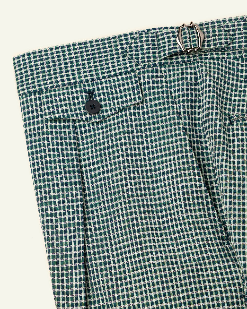 PML Seersucker Shorts - Green checks