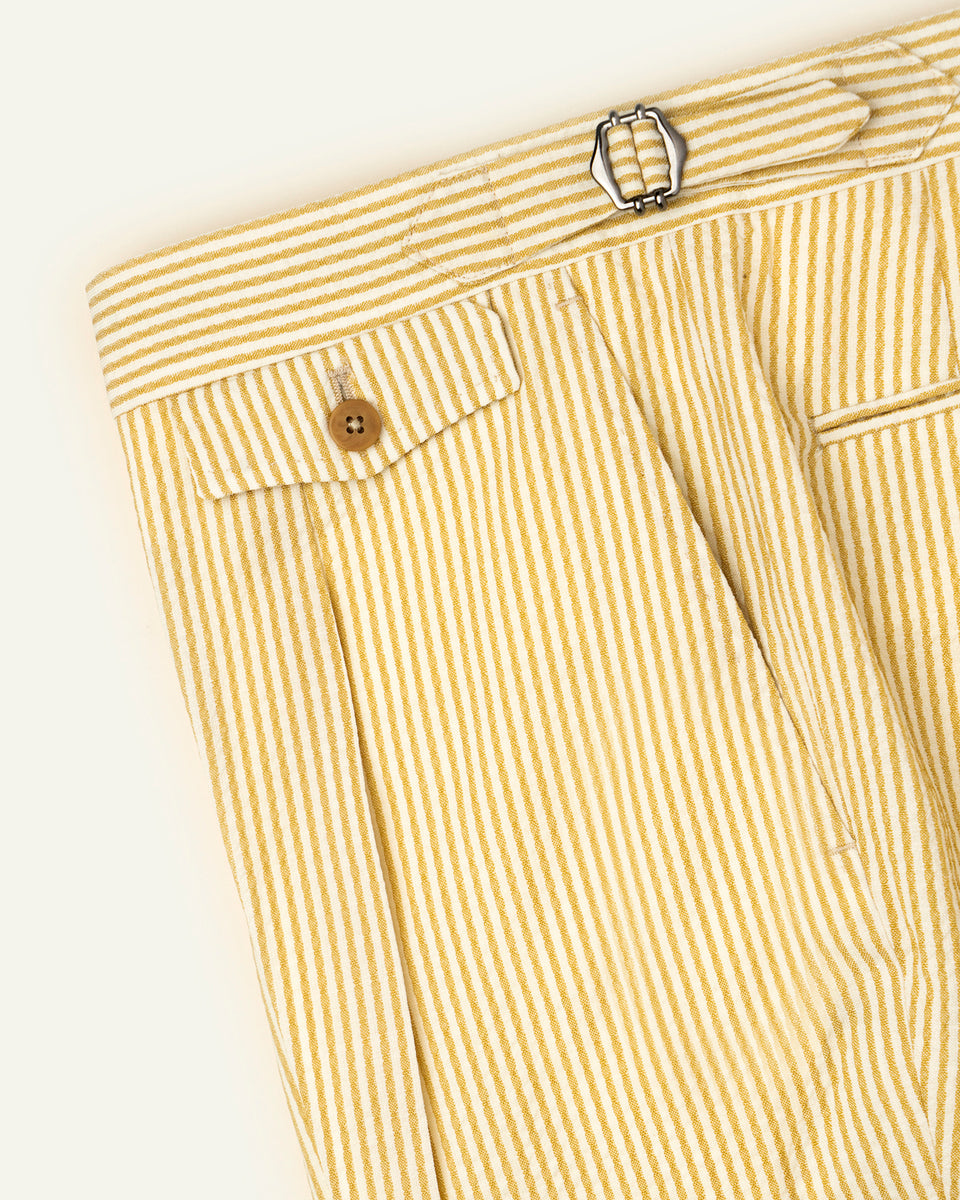 PML Seersucker Shorts - Cream Stripe