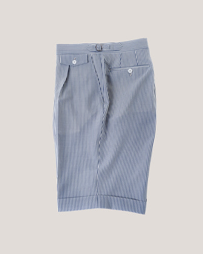 Seersucker shorts-Blue Stripe
