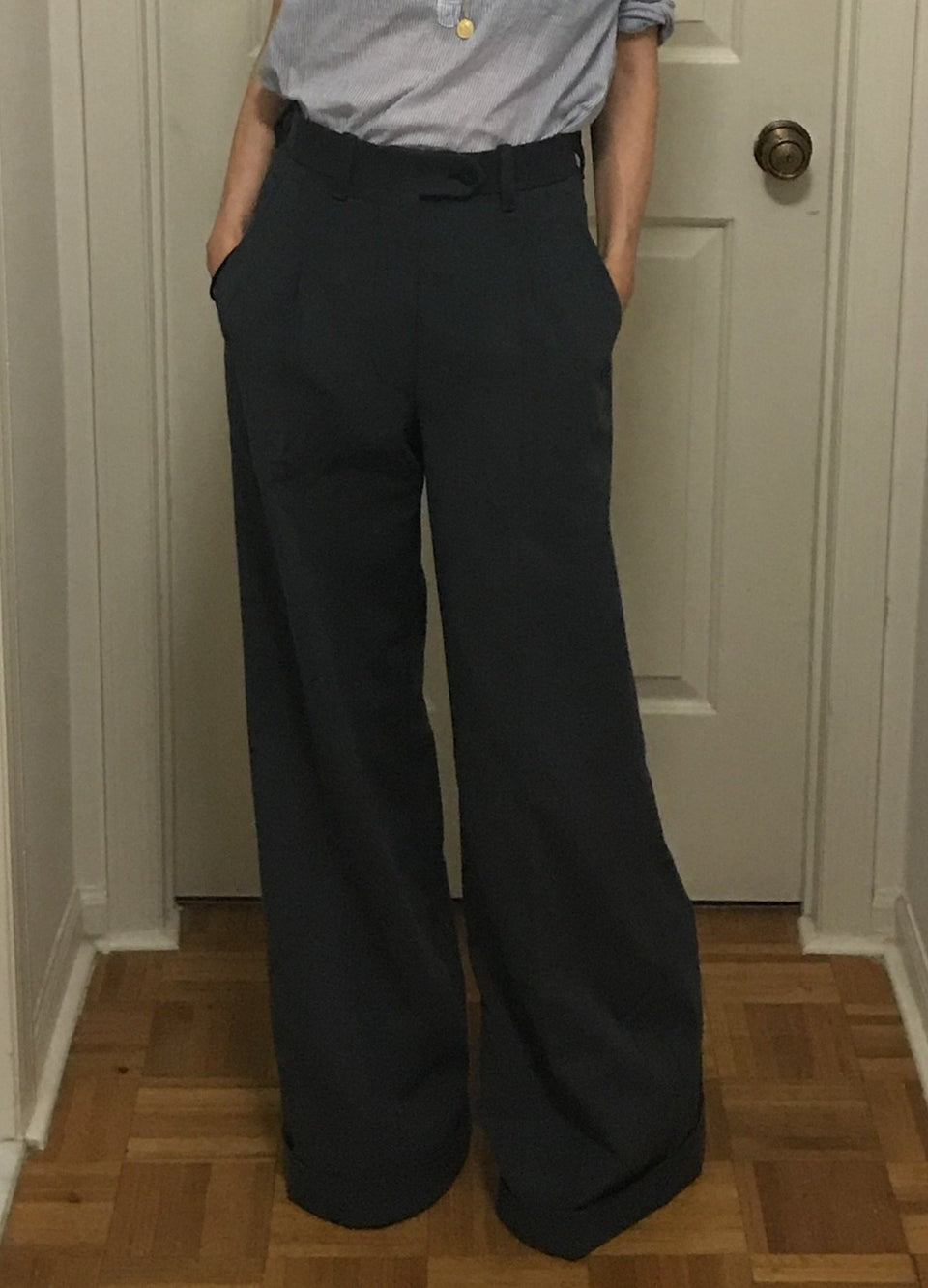 "Carin Lilja+PML ""The Suzanne"" ladies trousers navy"