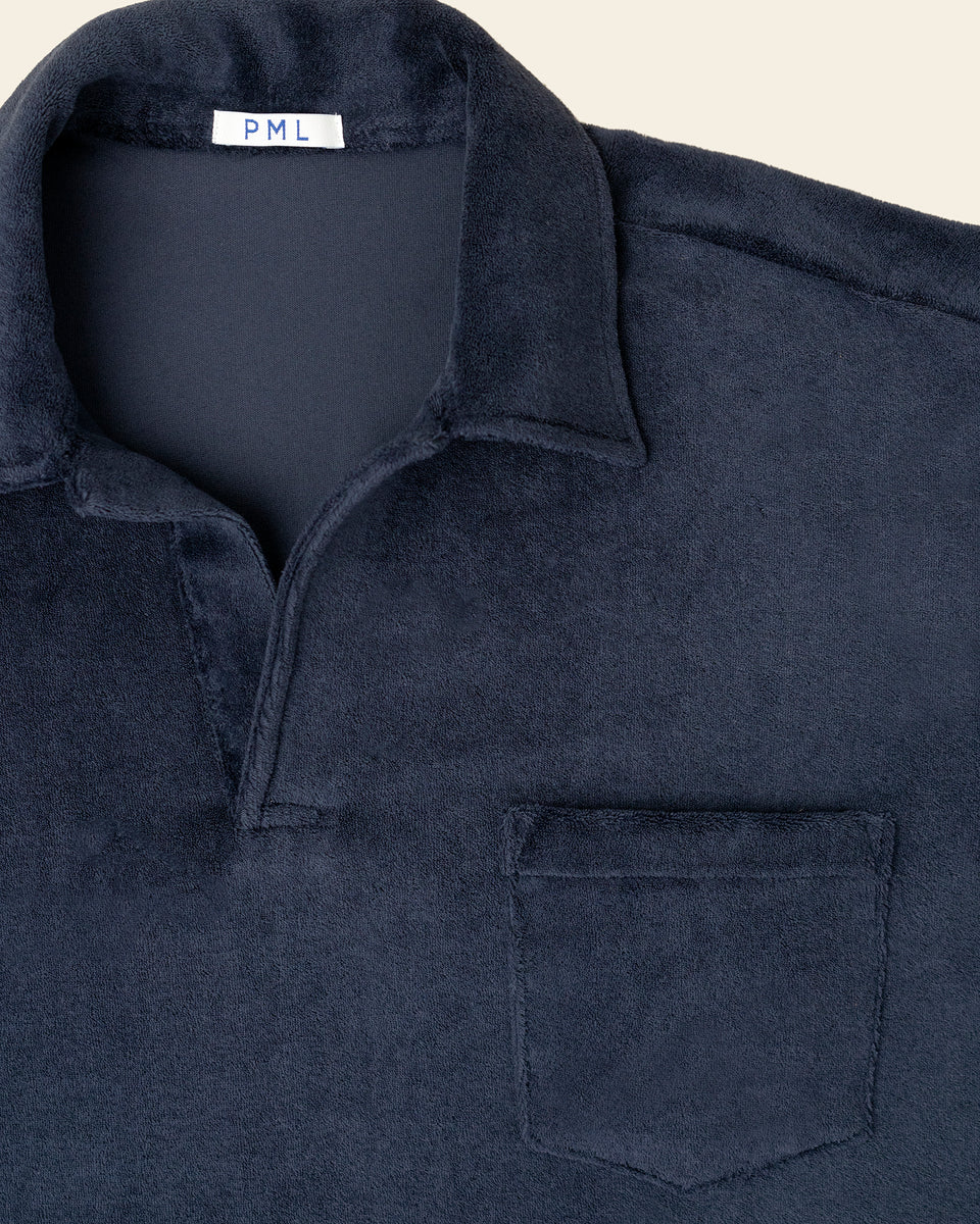 PML Chenille Polo-blue