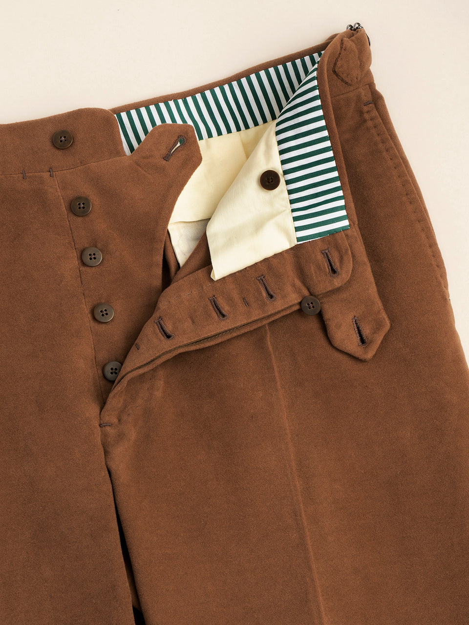 Moleskin cashmere and cotton brown