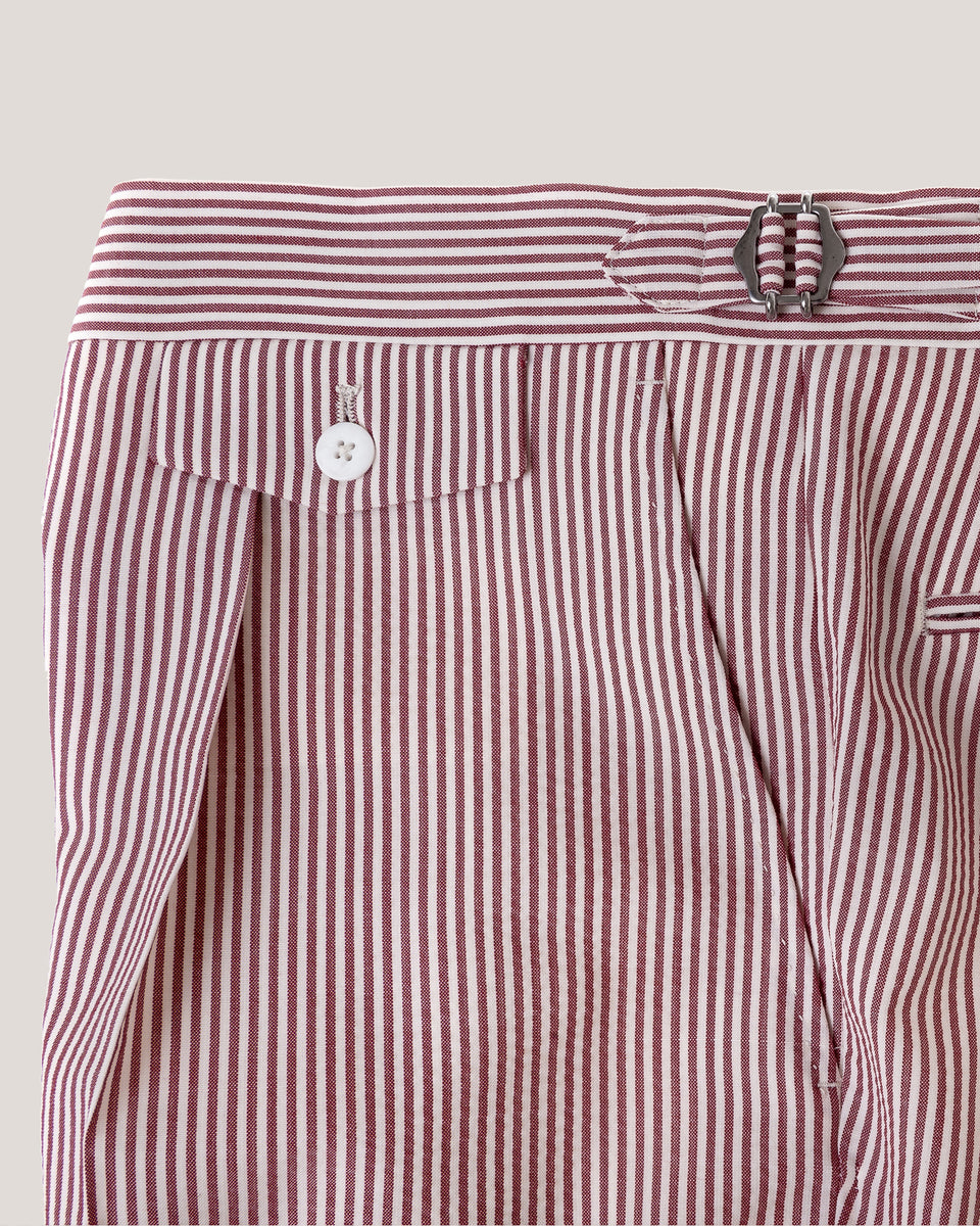 Seersucker shorts-Red Stripe