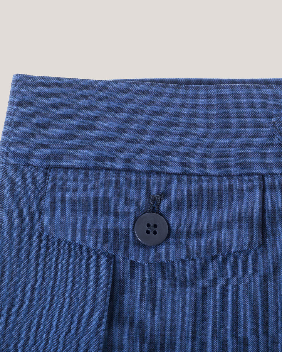 Seersucker Shorts - Blue on Blue