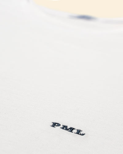 PML t-shirt monogram white