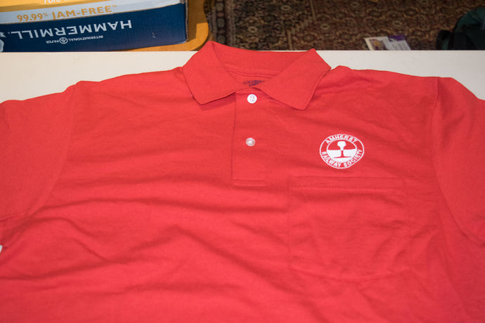 Red Amherst Railway Society Size Medium Polo Shirt