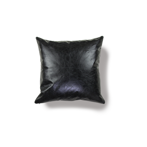 Black Leather Pillow Cover