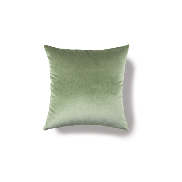 Sand Linen & Green Velvet Pillow Cover