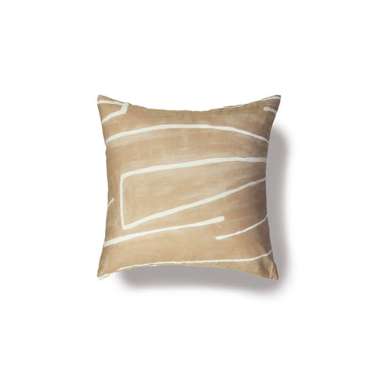 Kelly Wearstler Fabric Tan Pillow Cover