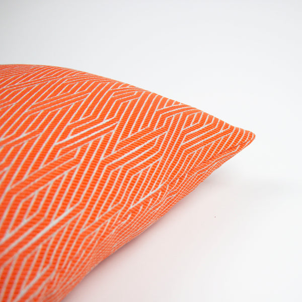 Red Orange Geometric Pillow Cover