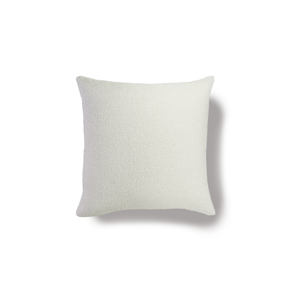 White Ivory Boucle Sherpa Pillow Cover