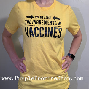 Ask me about the ingredients in vaccines
