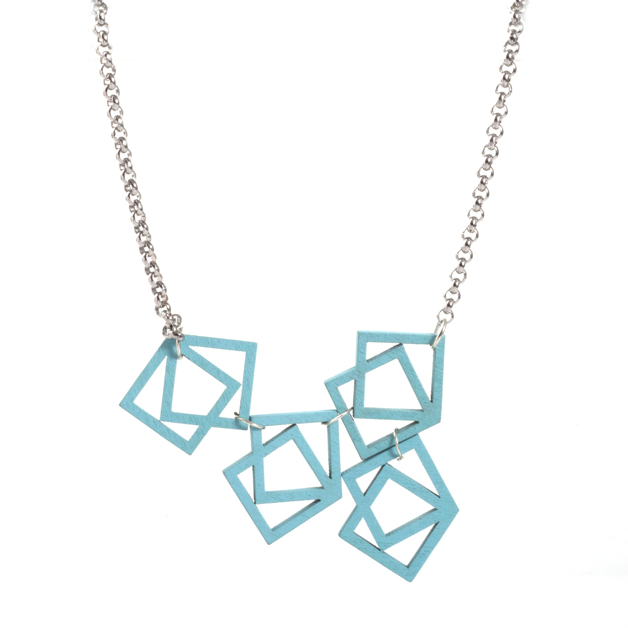 Turquoise squares necklace