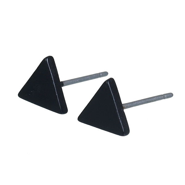 Triangle earrings wood/Black/silver/gold