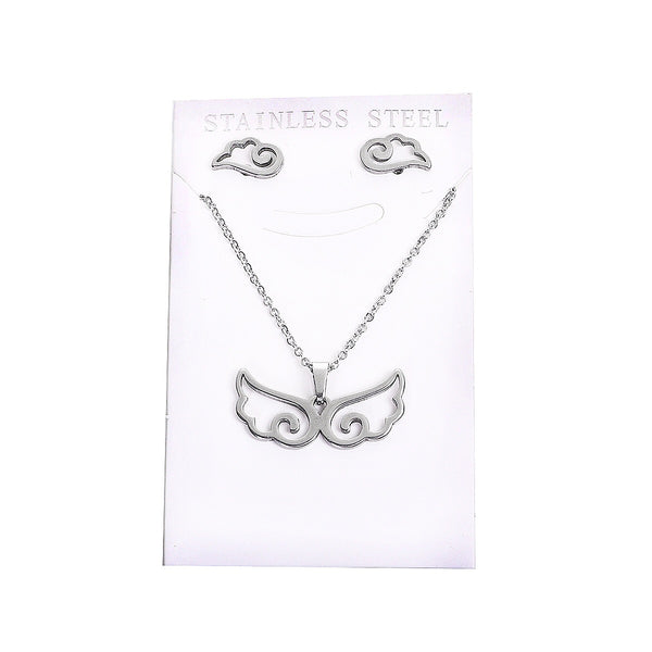Guardian angel wings SET necklace and earrings