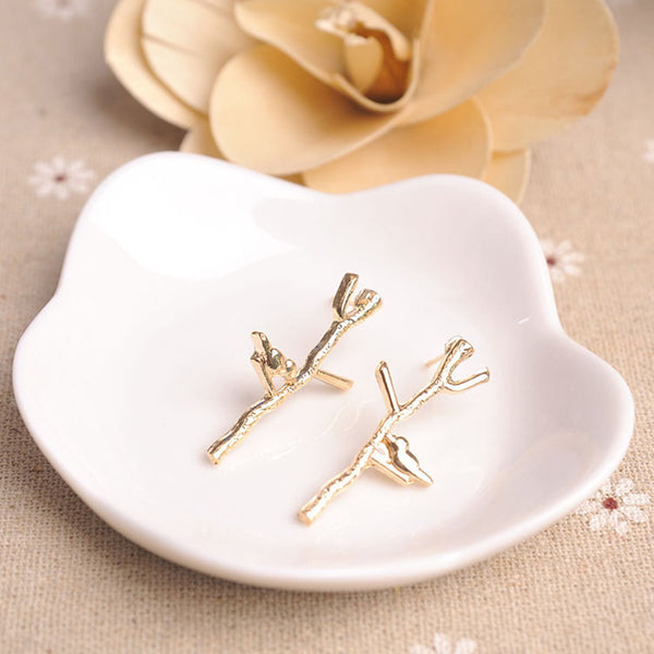 Bird in nature earrings