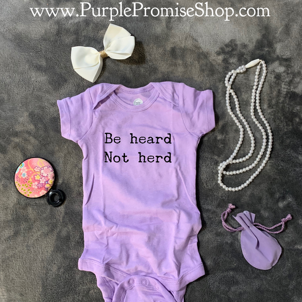 Be heard Not herd - baby snap T