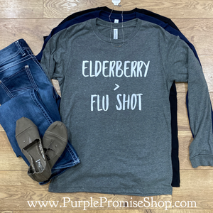 Elderberry > flu shot   [long sleeve]