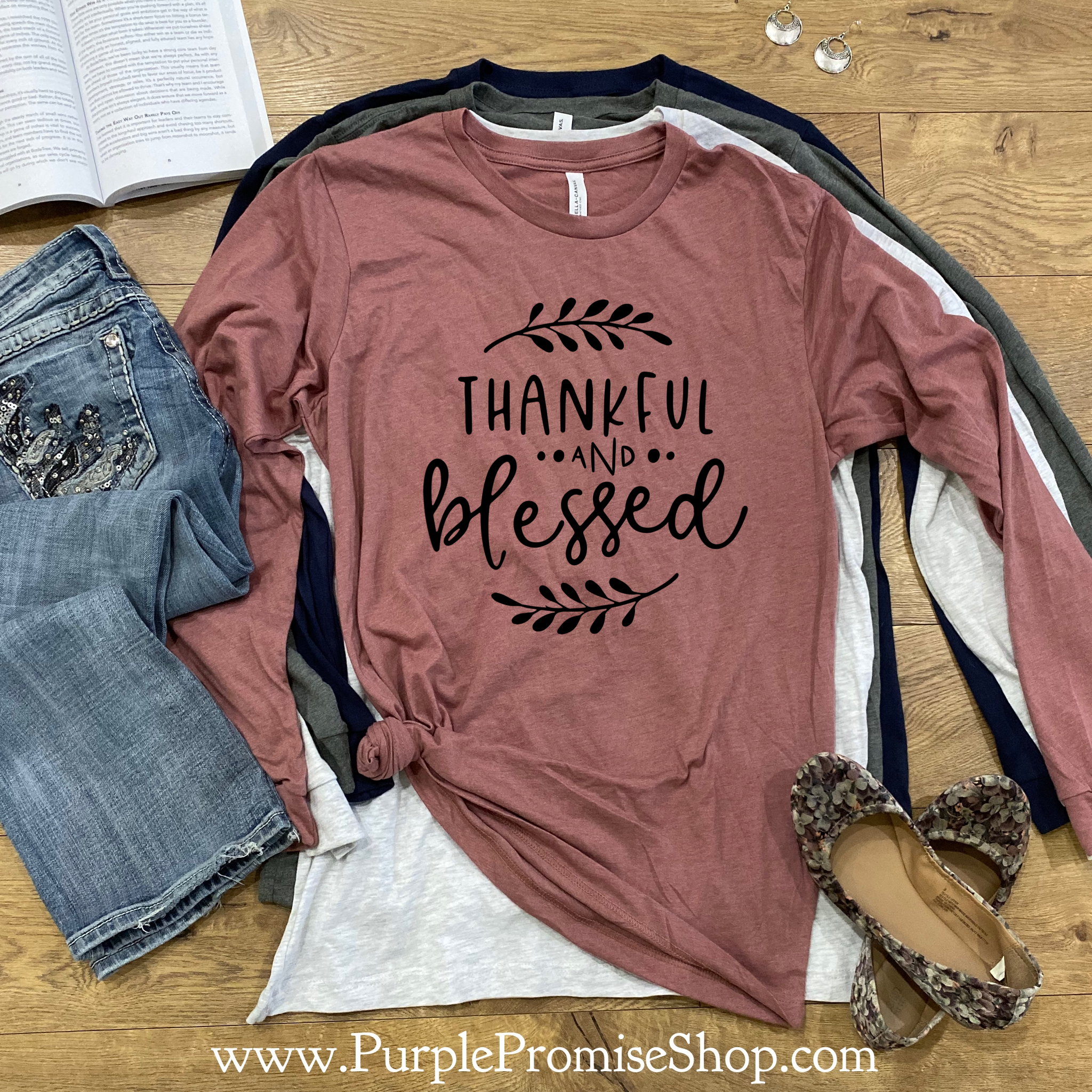 Thankful and blessed  [long sleeve]
