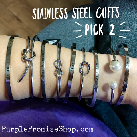 Pick your Pair {Silver Color} - 2 bracelet set