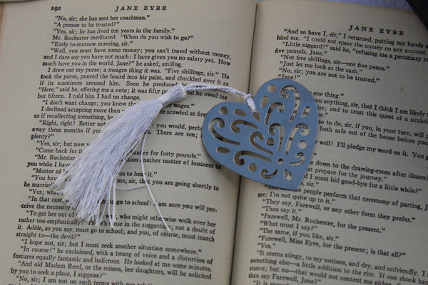 Bookmark HEART Stainless Steel