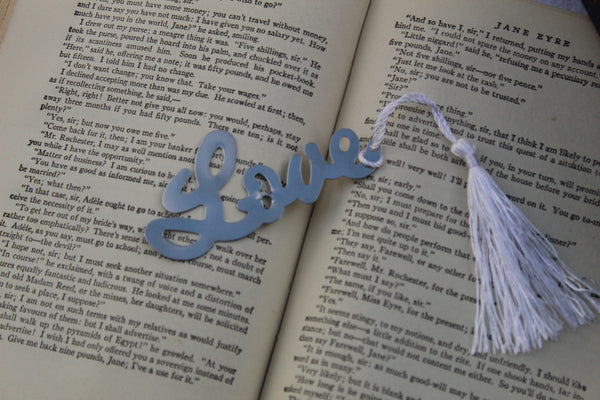 "Bookmark ""LOVE"" Stainless Steel"