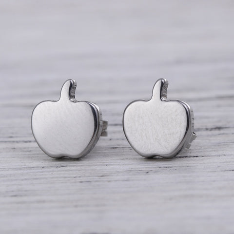 Apple Stainless Steel Earrings