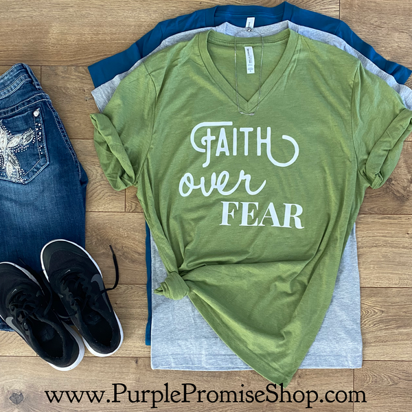 Faith over Fear -Vneck