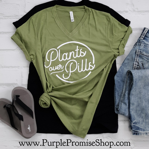 Plants over pills -Vneck