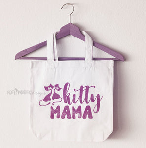Kitty Mama SVG cut file, cat person, pet decal, cat lover, crazy cat lady, word overlay, cricut explore, silhouette cameo, instant download
